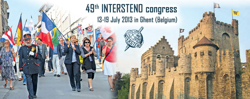 49th Intersteno Congress – Ghent 2013