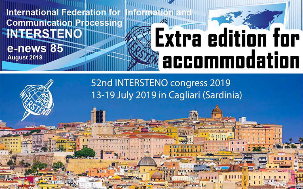 E-News 85 - August 2018 (Cagliari Extra)